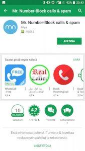 Mr. Number sovelluksen asentaminen Google Play Kaupasta