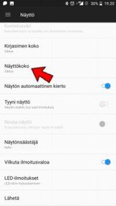 Android kuvakkeiden suurentaminen