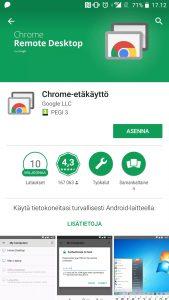 Asenna Chrome-etäkäyttö sovellus