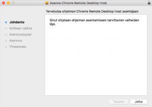 Chrome etäkäyttö asentaminen