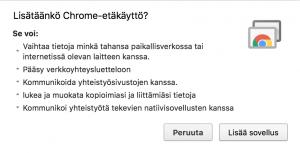 Lisää Chrome-etäkäyttö Chromeen