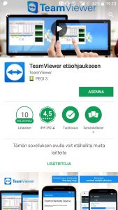 TeamViewer Android asentaminen