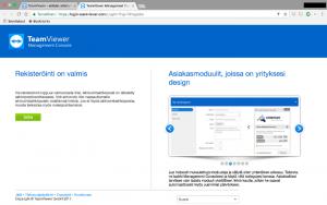 TeamViewer rekisteröinti valmis