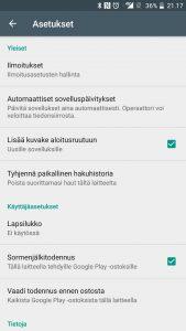 Automaattiset sovelluspäivitykset Google Play Kauppa