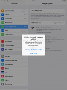 Nettiyhteyden jakaminen iPadista