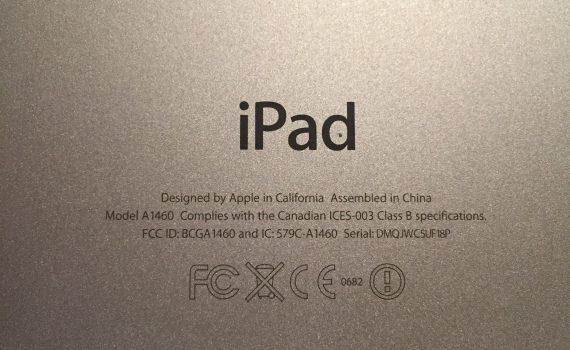 iPad mallit mallinumeron mukaan
