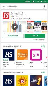 Ilta-Sanomat sovellus Android