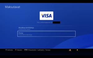 Poista maksukortti Playstation 4