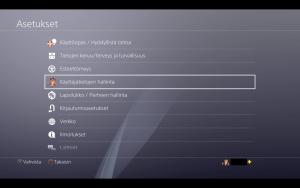 Playstation käyttäjätietojen hallinta