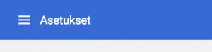 Chrome Asetukset-valikko