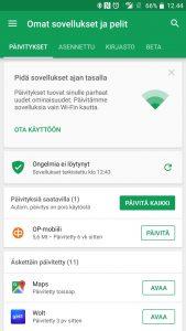 Päivitä sovellus Google Play