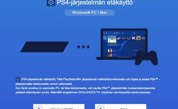 Playstation 4 etäkäyttö tietokoneella
