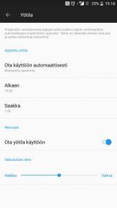 Sinivalosuodatin Android