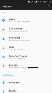 Android ilmoitusasetukset