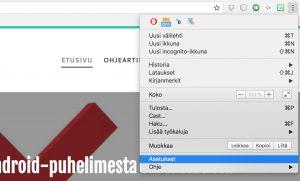 Chrome aloitussivun vaihto