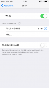 iPhone Wi-Fi-verkot