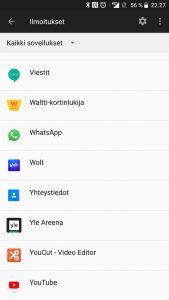 Ilmoitukset Android