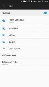 Langaton yhteys Android