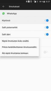 Piilota WhatsApp-ilmoitukset