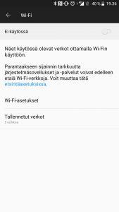 Wi-Fi käyttöönotto Android