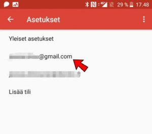 Gmail-sähköpostin asetukset