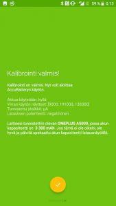 Kalibrointi valmis - AccuBattery