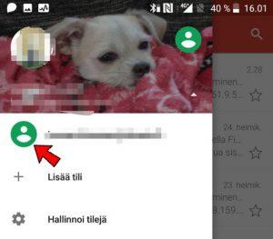 Vaihda Gmail-sähköpostia
