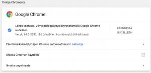 Chromen päivittäminen