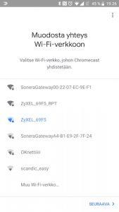 Chromecast Wi-Fiin yhdistäminen