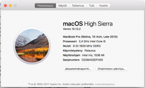Tietoja tästä Macista